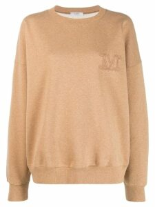 Max Mara embroidered M knitted sweater - Neutrals