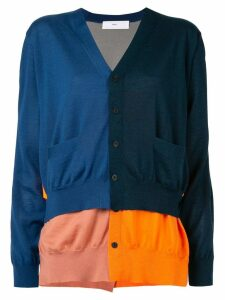 Toga layered colour block cardigan - Blue
