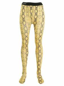 Laneus snakeskin-print leggings - Yellow