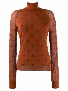 Fendi roll neck FF sweater - Orange