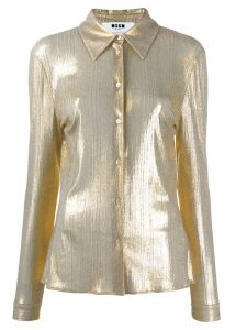 MSGM metallic sheen shirt - GOLD