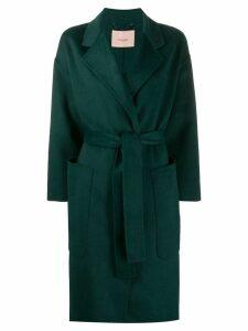 Twin-Set oversized wrap-style coat - Green