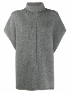 Joseph Turtle neck poncho - Grey