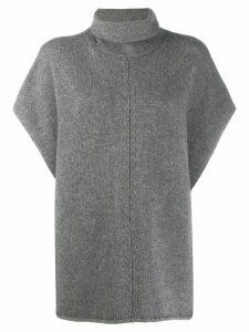 Joseph Turtle neck poncho - Grey