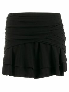 Saint Laurent draped mini skirt - Black