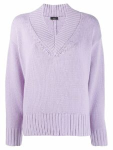 Joseph V-neck knitted sweater - PURPLE