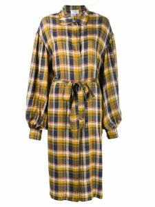 Collina Strada plaid shirt jacket - Yellow