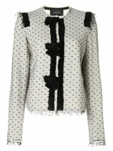 Giambattista Valli dotted mesh top blazer - White