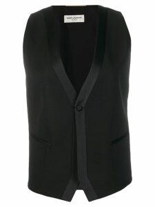 Saint Laurent single-breasted waistcoat - Black