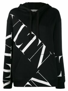 Valentino VLOGO pattern hooded sweatshirt - Black