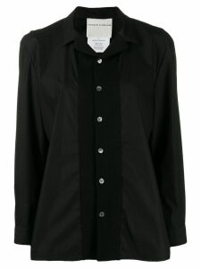 Stephan Schneider long-sleeved Plaza shirt - Black