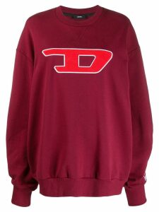 Diesel logo appliqué sweatshirt - Red