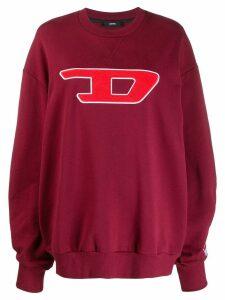 Diesel logo appliqué sweatshirt - Red
