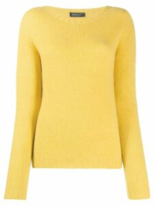 Aragona round-neck knit sweater - Yellow