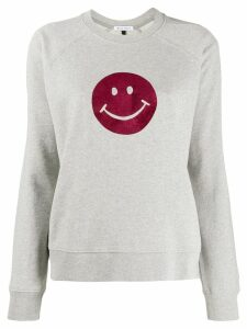 Bella Freud Flocked Happy sweater - Grey