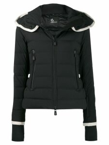 Moncler Grenoble fitted puffer coat - Black