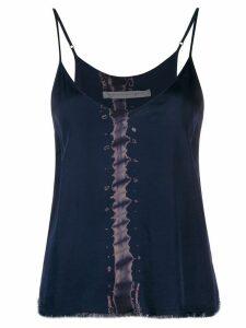 Raquel Allegra printed spaghetti strap camisole - Blue