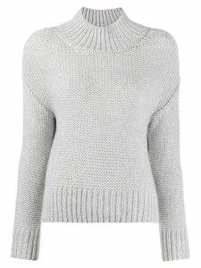Fabiana Filippi funnel neck knitted jumper - Grey