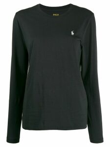 Polo Ralph Lauren embroidered logo longsleeved T-shirt - Black