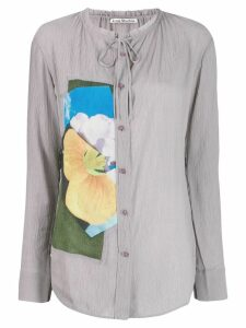 Acne Studios floral panel shirt - Grey