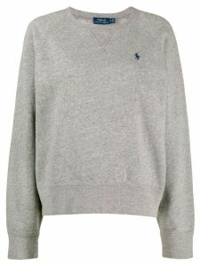 Polo Ralph Lauren embroidered logo sweatshirt - Grey