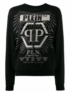 Philipp Plein embellished print sweatshirt - Black