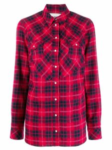 Iceberg plaid long-sleeve shirt - Red