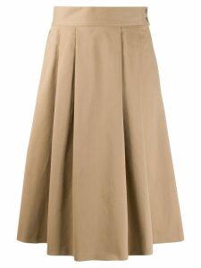 Aspesi pleated A-line skirt - Neutrals