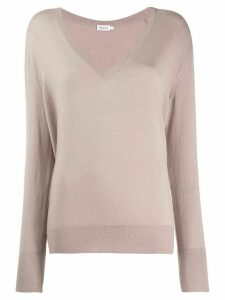 Filippa K fine knit V-neck jumper - NEUTRALS