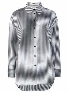 Acne Studios menswear-inspired striped shirt - Black