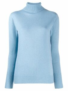 D.Exterior turtleneck fine knit jumper - Blue