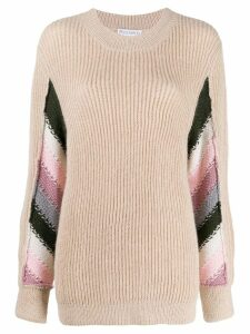 JW Anderson striped detail knitted sweater - NEUTRALS