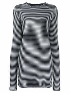 Haider Ackermann striped knitted top - Black
