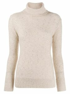 Fabiana Filippi embellished roll neck jumper - NEUTRALS
