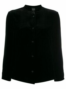 Aspesi long sleeved velvet blouse - Black