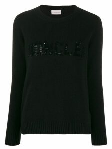 Moncler sequin embellished jumper - Black