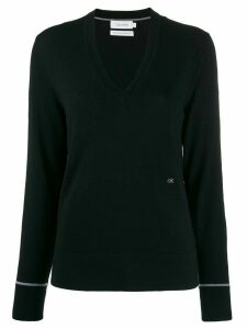Calvin Klein v-neck jumper - Black