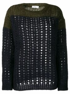 Closed cable knit jumpers - Blue