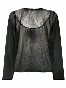 Fabiana Filippi lace-panel blouse - Black