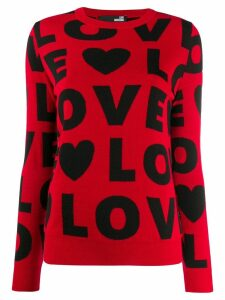 Love Moschino patterned 'Love' jumper - Red