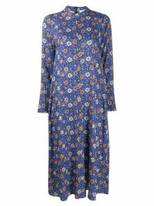 Alysi floral print long-sleeved dress - Blue
