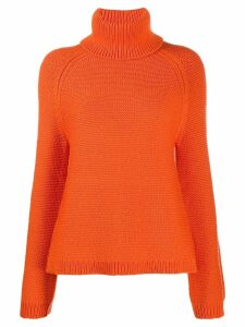 Joseph chunky knit roll neck jumper - ORANGE