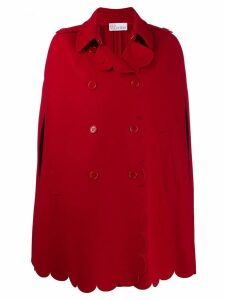 RedValentino scalloped double-breasted cape