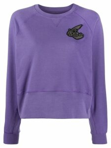 Vivienne Westwood logo embroidered sweatshirt - PURPLE