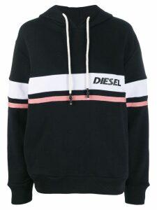 Diesel logo stripe hoodie - Black