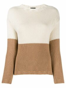Aragona two-tone cashmere sweater - Neutrals