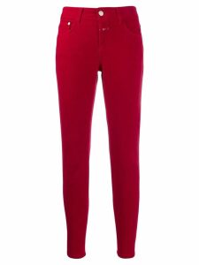 Closed five pocket design trousers - Red