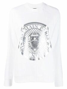 Balmain Medallion print sweatshirt - White