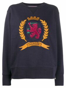 Hilfiger Collection Side Zip Crest sweatshirt - Blue