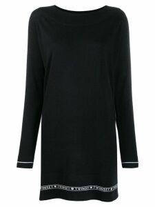 Twin-Set long stripe detail jumper - Black